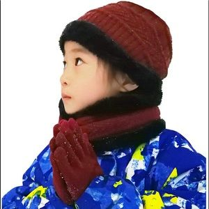 Beanie Scarf for Boys Girls (5-14 Years) Hats